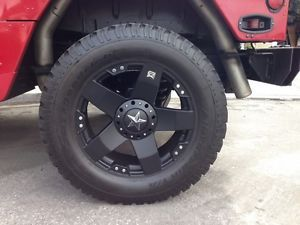 "Rockstar XD KMC Hummer H1 H2 Wheels and Tires 22"" BF Goodrich 325 60R22"