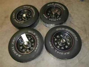 Aftermarket 15x7 Steel Wheels Rims Tires 6 Lug Set 4