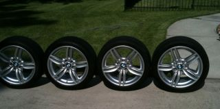 "BMW 5 Series Factory 19"" Wheels Tires Rims 351M Double Spoke Dunlop Perfomance"
