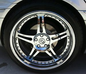 "Genuine HRE 547R Wheels Staggered 20"" Chrome 5x112 Mercedes with Nitto Tires"