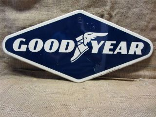 Vintage 1967 Goodyear Sign Antique Old Tire Rubber Tires Auto Good Year 8491