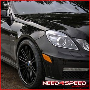 "20"" Mercedes Benz W212 E350 E550 Coupe Rohana RC20 Concave Black Wheels Rims"