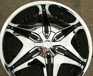 "Akuza Big Papi 712 20"" Chrome Rims Wheels Dodge Avenger 08 Up 20 x 8 5 5H 45"