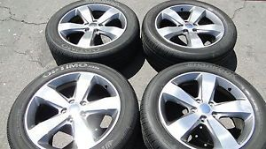 "20"" Jeep Grand Cherokee Dodge Durango Factory Wheels Rims Hankook Tires"