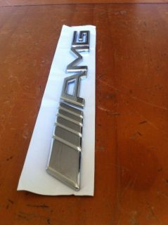 Auto Car Badge Emblem 3D Metal Sticker Logo Silver Mercedes Benz AMG SR56
