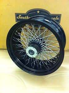 Black 80 Spoke Rear Wheel for Harley Custom Wheels 18x8 5""