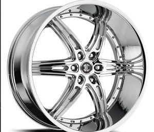 24 inch 2CRAVE 16 Chrome Wheels Tires Fit Chevy Ford Nissan Cadillac Lincoln