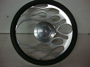 Colorado Custom Flaming Rat Rod Style Steering Wheel Billet