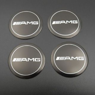 4X Mercedes Benz AMG 55mm Car Wheel Centre Cap Sticker