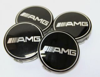 4X 75mm Emblem Wheel Center Caps Hub Covers for Mercedes Benz AMG