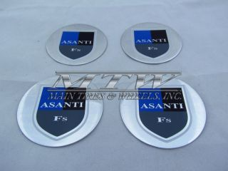 Asanti Custom Wheel Center Cap Emblem Sticker