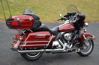 2009 Red Hot Sunglo Harley Davidson Electra Glide Ultra Classic Flhtcu EXTRAS