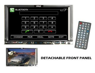 "Pyle PLDN76DB 7"" Touch Screen CD DVD  Car Player USB"