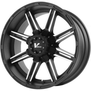 22x10 Black V Rock Reactor 5x150 24 Rims Toyo Open Country MT 35x12 50R22LT