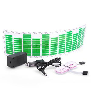 Green Car Music Rhythm LED Flash Light Lamp Sticker Sound Activated Equalizer