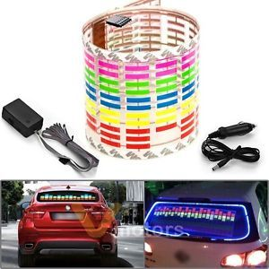 Sound Music Activate Sensor Multi Color LED Light Equalizer Glow Car Sticker 18""