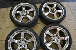 "Giovanna 19"" Chrome Mercedes Benz SL550 CLS550 S550 Wheels and Bridgestone Tires"