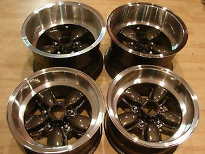 60s American Racing 15x10 14x8 200S Daisy Mag Wheel Rims Center Caps Lugnuts