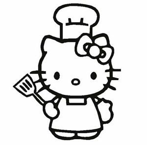 Hello Kitty Chef Cook Car Girl Decal Vinyl Sticker