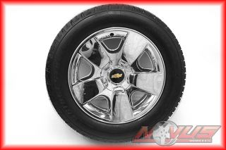 "New 20"" Chevy Silverado Tahoe LTZ GMC Yukon Sierra Chrome Wheel Bridgestone Tire"
