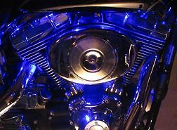 Motorcycle Blue LED Lights
