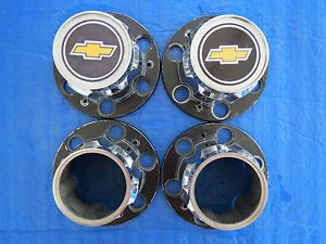 Set of 4 1967 68 69 71 72 74 Chevrolet Truck Bowtie Rally Center Cap Blazer SC2