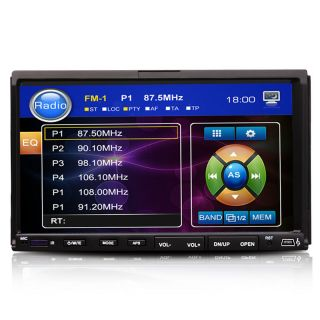 "Double 2 DIN 7"" in Dash Touch Screen Car Stereo DVD CD VCD  Player Radio"