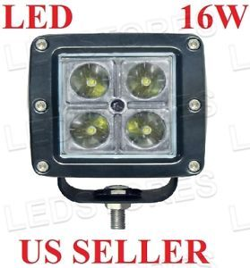 1pcs 16W Off Road LED Work Driving Fog Light Lamp 4x4 Truck Motorcycle Bike 12V