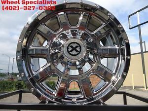 "ATX AX805 17"" inch 17x9 American Racing Chrome Off Road Wheels Jeep 5x4 5 5x5"