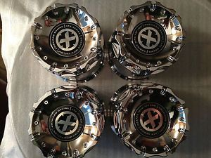 ATX Chrome Center Caps 4 Wheels Rims 8 Lug 8x6 5 Chevrolet 8x170 Ford F250 Dodge