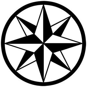 C 3 Tribal Compass Rose Nautical Star Car Boat Bike Window Vinyl Decal Sticker