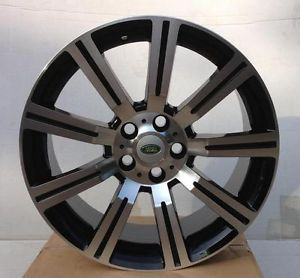 "22"" Black Machine Rims Stormer Wheels Range Rover Land Rover Discovery LR3 LR4"