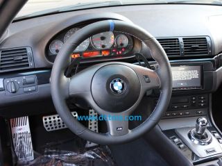 BMW E46 E39 M3 M5 Sport Steering Wheel M Stitching New