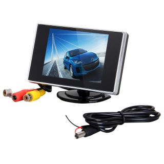 "3 5"" inch Color TFT LCD Car Mirror Monitor for Rear View Reverse Backup Camera"