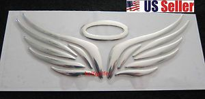3D Funny Auto Toyota BMW VW Racing Car Stickers Decals Emblem Chrome Angel Wing