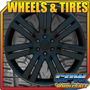 "Cadillac Escalade 24"" Matte Black Rims Wheels Tires Package ESV Ext 24S New Set"