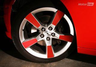 "2010 Chevy Camaro SS Stock 20"" Wheel Rim Decal Inserts Blackout Stripe Inlays"