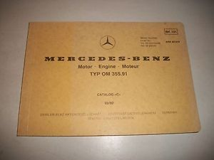 Mercedes Benz Industrial Engine Parts Catalog Type OM 355 91