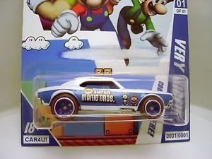 67 Camaro New Super Mario Bros Custom Hot Wheels