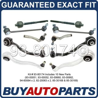 Brand New Front 10 Piece Control Arm Tie Rod End Sway Bar Link Kit for Mercedes