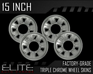 "2000 2009 Ford Ranger 15"" Chrome Wheel Skin Covers"