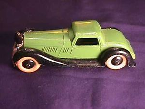Old Vintage Dinky Toys by Meccano Bentley 2 Tone Color Rubber Wheels Diecast Car