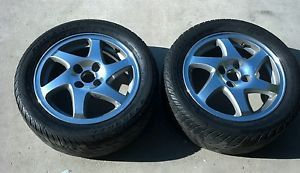 2 15x6 Acura Integra GSR Rims Wheels Blades 4x100