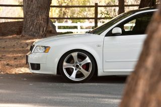 "19"" Audi A4 B6 MRR HR2 Machined Silver Concave Wheels Rims"