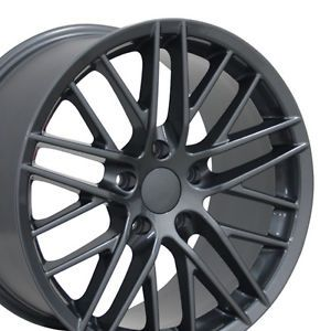 "17"" Gunmetal Corvette C6 ZR1 Wheels Set of 4 Rims Fits Chevrolet Camaro SS"