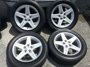 "2010 2011 2012 18"" Chevy Camaro Alloy Wheels Silver Tires Rims Factory"