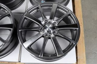 17 5x114 3 Gun Metal Wheels Lexus Civic Mazda 3 6 Nissan Altima Lancer RSX Rims