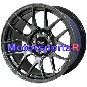 17 XXR 527 Chromium Black Rims Wheels Staggered 4x100 Stance 90 05 Mazda Miata R