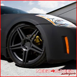 "20"" Nissan 350Z Incurve IC S5 Matte Black Staggered Rims Wheels"