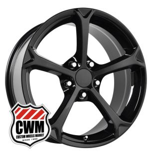 "18x9 5"" Corvette 2010 C6 Grand Sport Replica Black Wheels Rims Fit Corvette 1987"